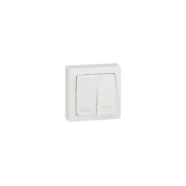 Doble interruptor persianas superficie Monobloc Oteo 086013