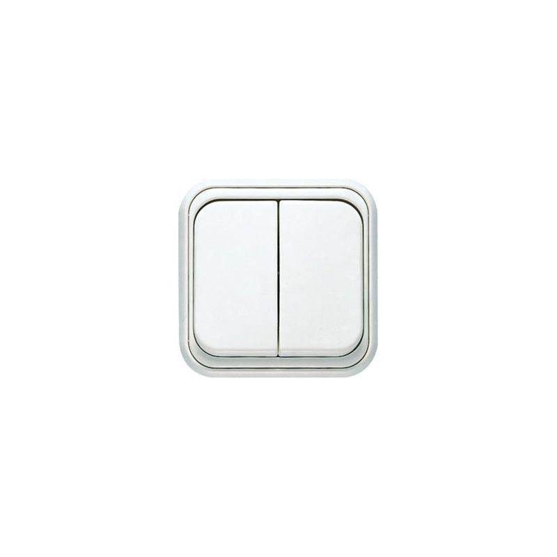 Doble interruptor de superficie Over de NIESSEN 1511BL