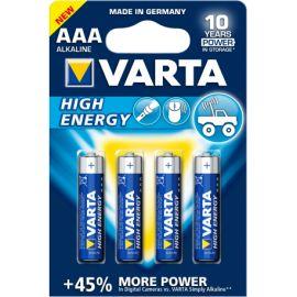 Blister 4 pilas alcalinas 1.5V AAA LR03 Varta