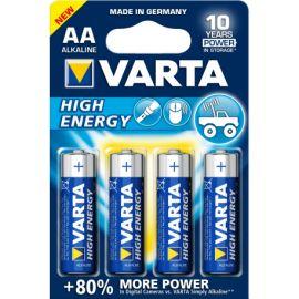 Blister 4 pilas alcalinas 1.5V AA LR6 Varta
