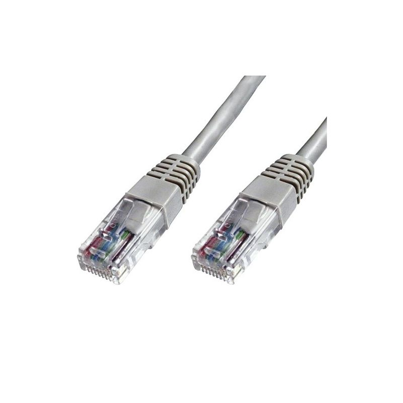 Latiguillo RJ45 Cat 5e UTP 0.5m gris