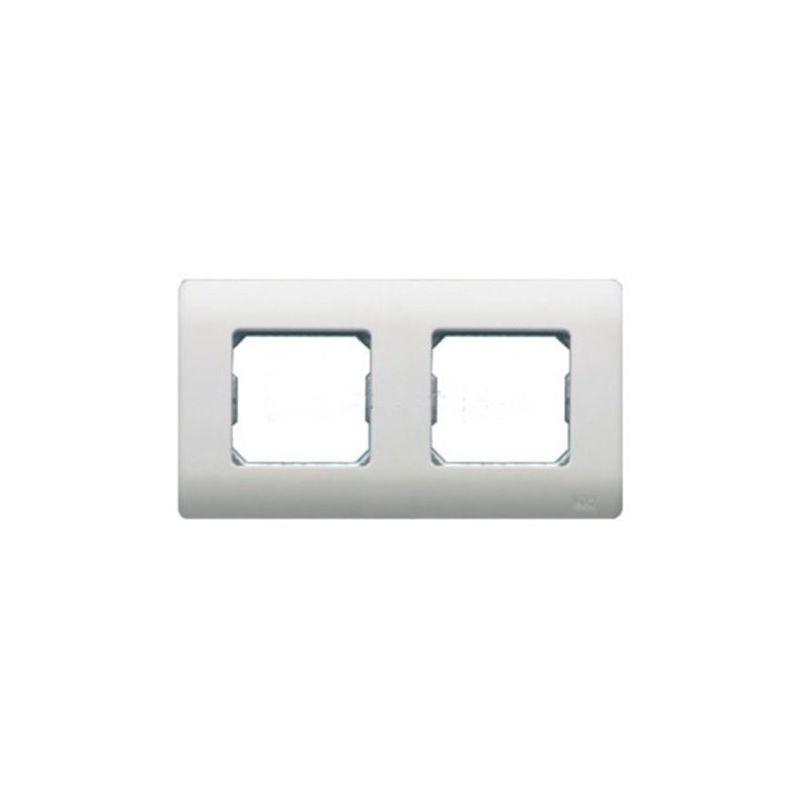 Interruptores y Enchufes por marca BJC Marco 2 elementos blanco con garras BJC Sol Teide 16002