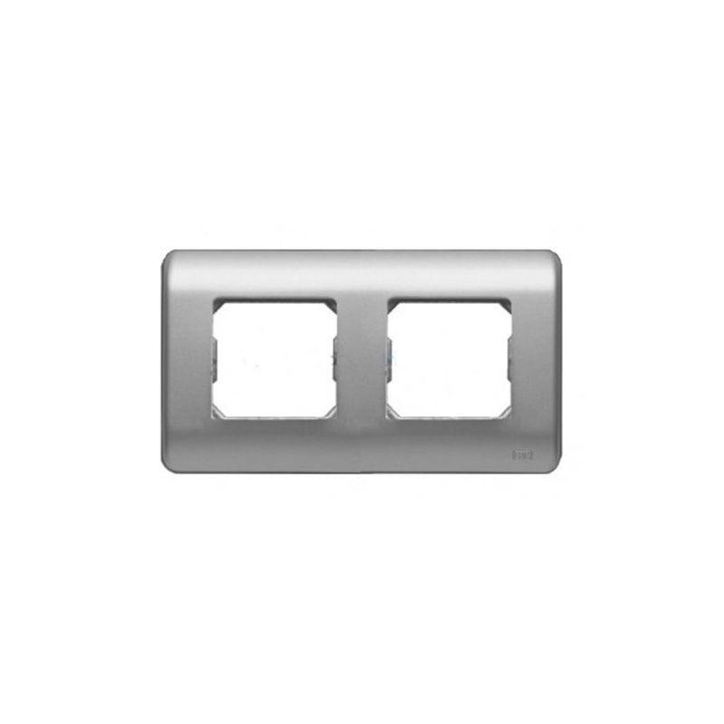 Interruptores y Enchufes por marca BJC Marco 2 elementos plata BJC Sol Teide 16002-PL
