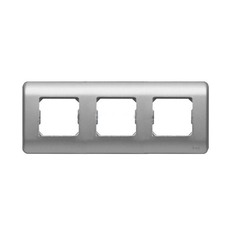 Interruptores y Enchufes por marca BJC Marco 3 elementos plata BJC Sol Teide 16003PL