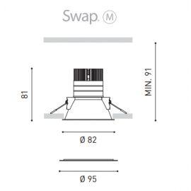 Aros empotrar LED ARKOSLIGHT Aro LED Swap M 5W 3000K blanco Arkoslight