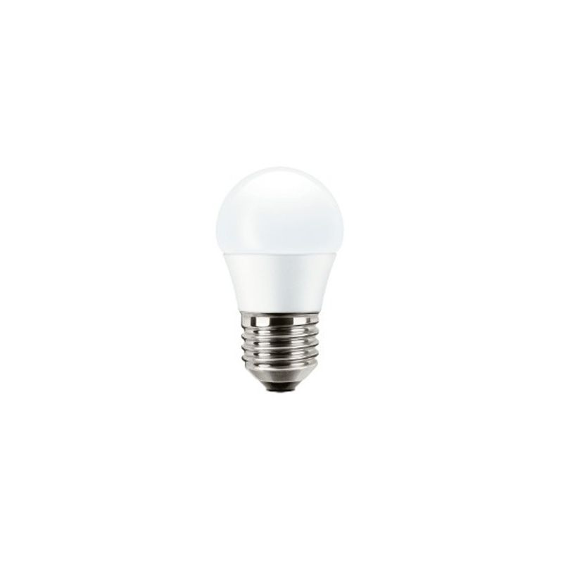 Lámparas LED con casquillo E27 MAZDA bombilla led esférica E27 3,2W luz cálida 827