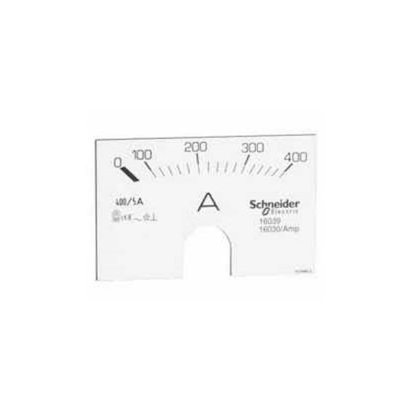 Escala para amperímetro analógico de 0 a 150 A