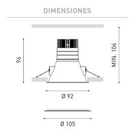Aros empotrar LED ARKOSLIGHT Aro LED Swap L 5W 3000K blanco Arkoslight