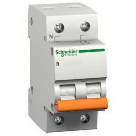 Interruptor magnetotérmico 16A 1P+N Schneider Domae 12509 Vivienda