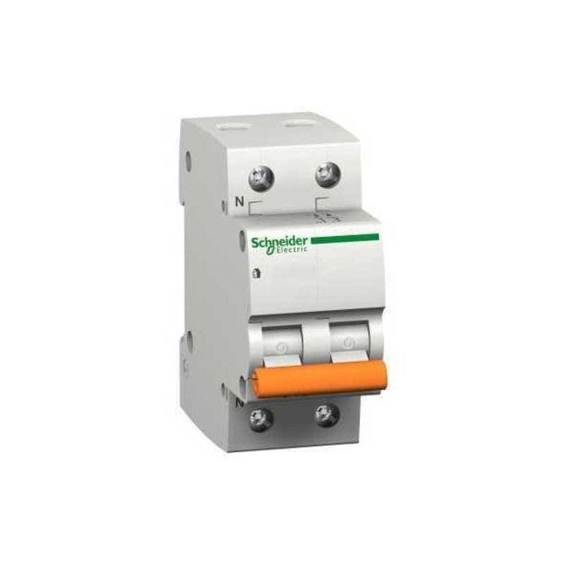 Interruptores automáticos gama vivienda SCHNEIDER Interruptor magnetotérmico 16A 1P+N Schneider Domae 12509 Vivienda