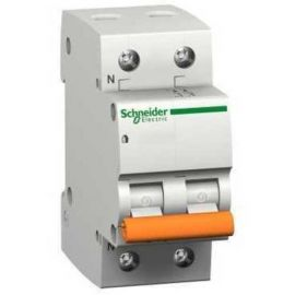 Interruptor magnetotérmico 40A 1P+N Schneider Domae 12513 Vivienda