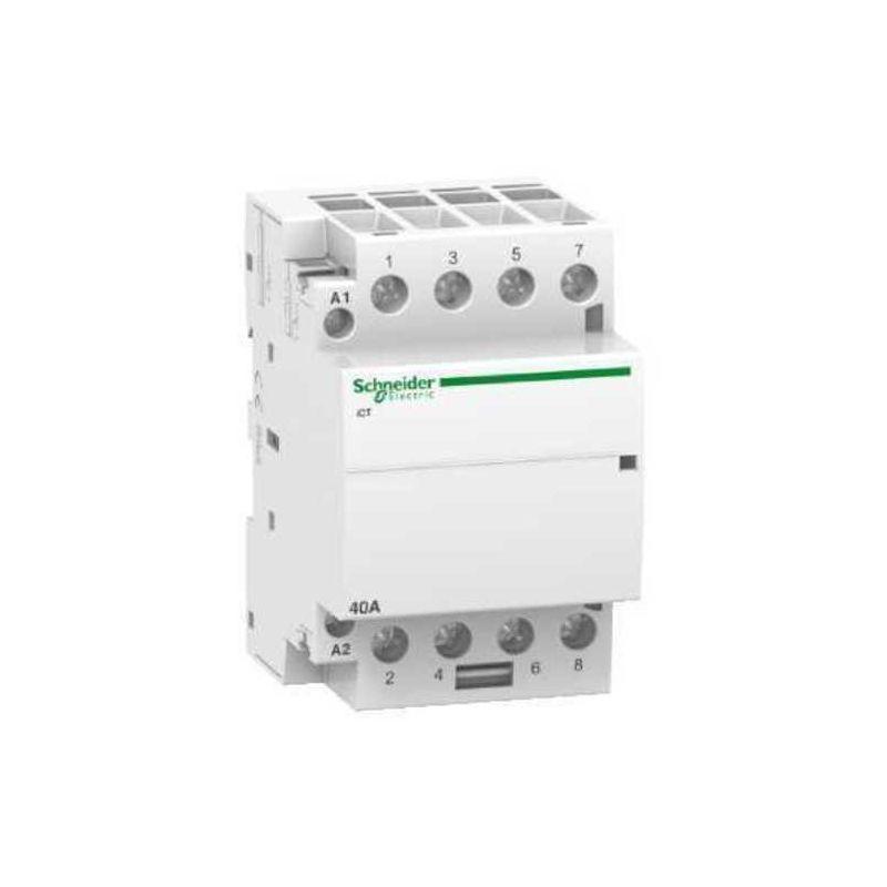 Contactores y Telerruptores SCHNEIDER Contactor modular iCT 40A 4NA  230V CA Schneider A9C20844