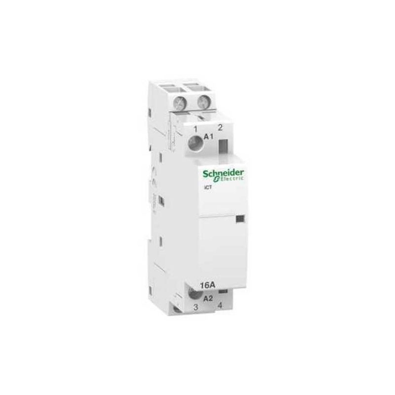 Contactores y Telerruptores SCHNEIDER Contactor modular iCT 16A 2NA  230V CA Schneider A9C22712
