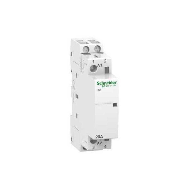 Contactores y Telerruptores SCHNEIDER Contactor modular iCT 20A 2NA  230V CA Schneider A9C22722