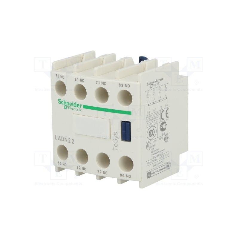368dc16a89cac Bloque contacto auxiliar 2NA+2NC frontal LADN22 Schneider