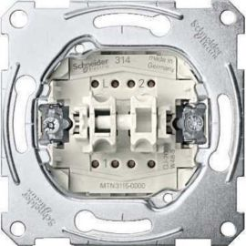 Interruptor doble Schneider MTN3115-0000 Series D-Life y Elegance