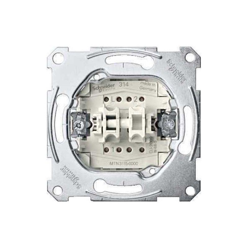 Interruptor doble Schneider Elegance MTN3115-0000