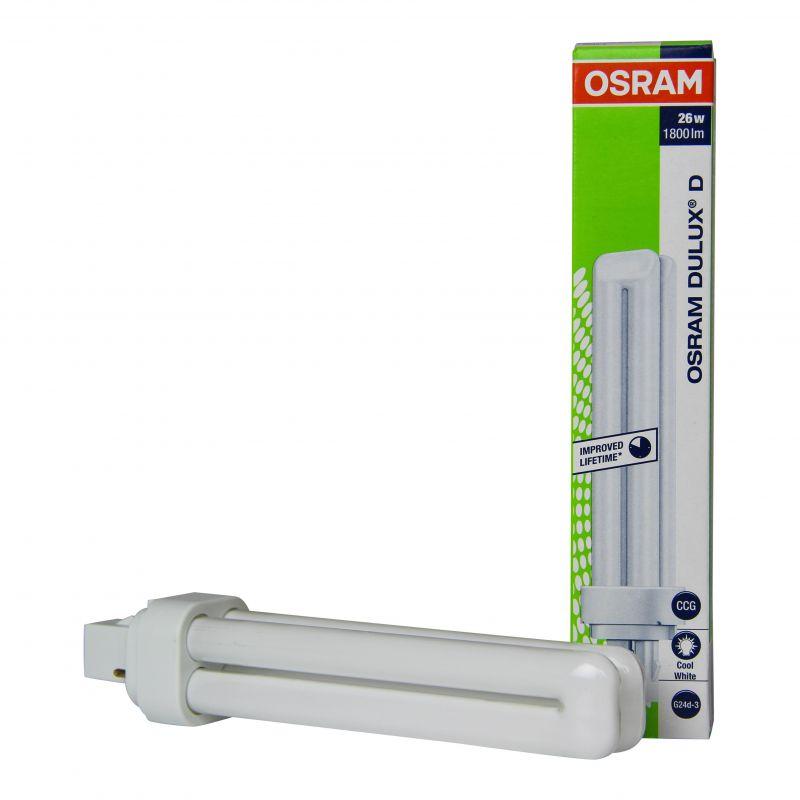 C 2 26W patillas bajo 840 Dulux PL consumo Lámpara Osram OPXZkuwiT