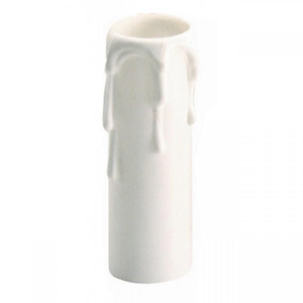 Vela embellecedora blanca 855c para portalámparas