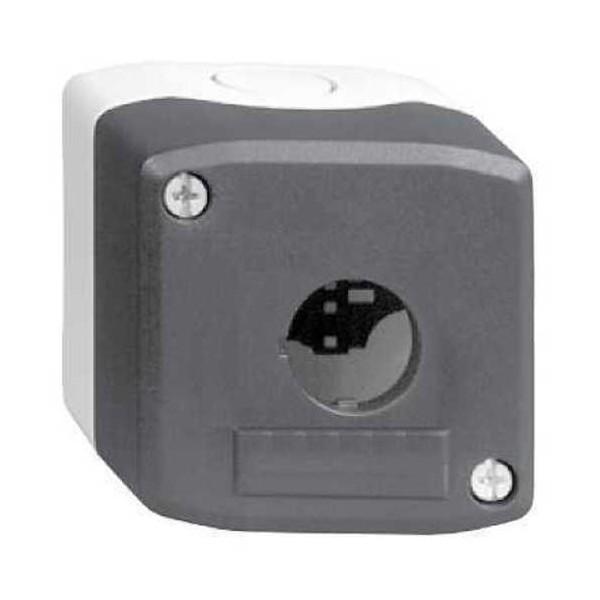 Caja gris claro tapa gris antracita 1 taladro XALD01