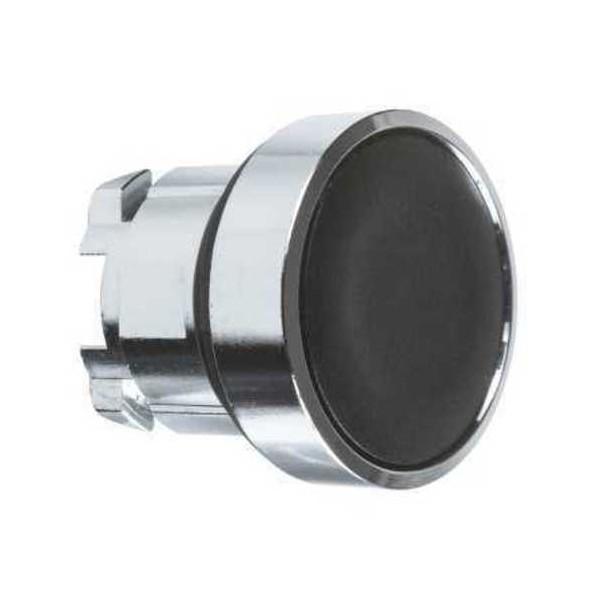 Cabeza pulsador rasante negro embellecedor metalico ZB4BA2