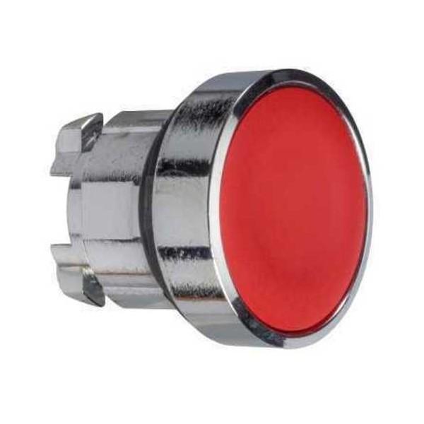 Cabeza pulsador rasante rojo embellecedor metalico ZB4BA4