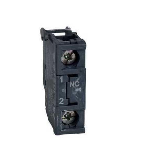 Bloque contacto estandar simple 1NC tornillo ZBE102