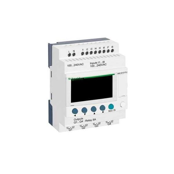 Rele programable Zelio 100-240V 12 E/S con visor Schneider