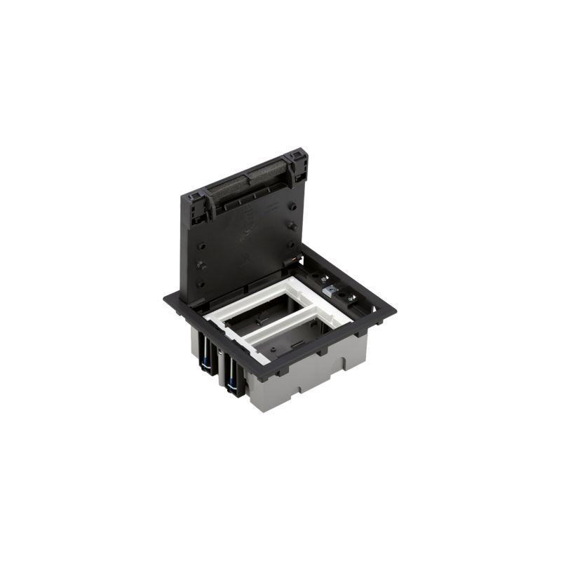 Caja suelo regulable 2 módulos grafito Simon 500 CIMA