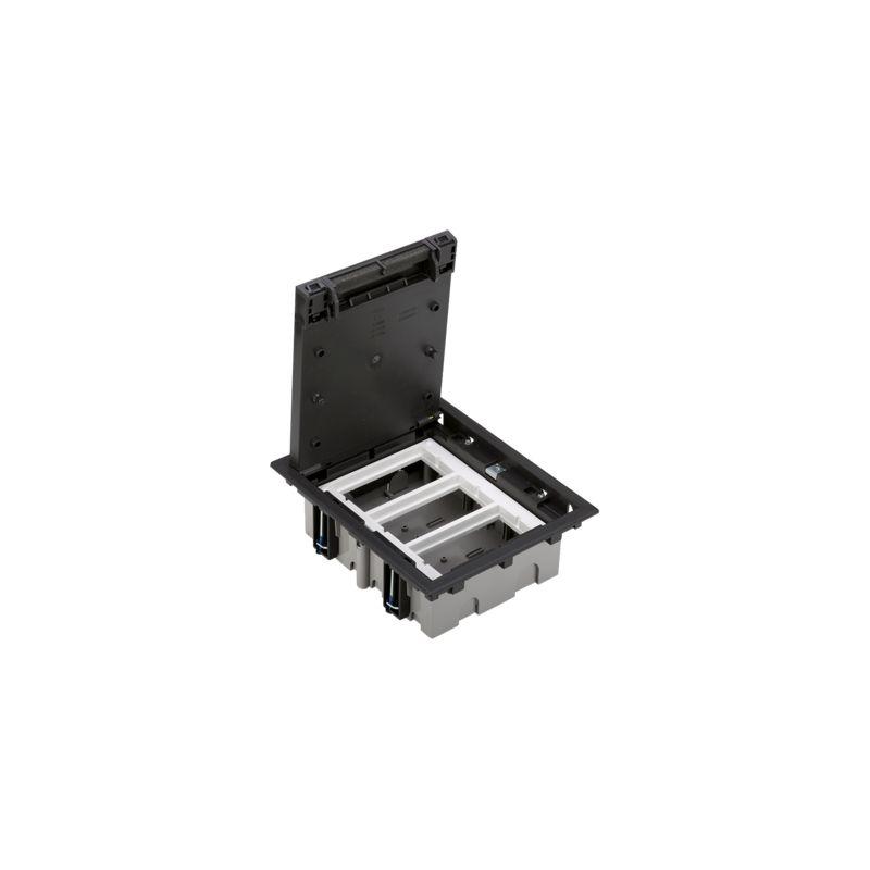 Caja suelo regulable 3 módulos grafito Simon 500 CIMA