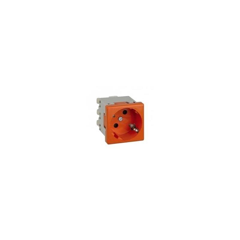 Enchufe schuko rojo embornamiento tornillo K01/6 Simon K45