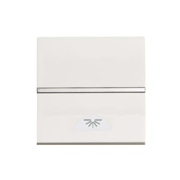 Pulsador símbolo luz blanco N2204.2 BL 2 módulos Zenit Niessen