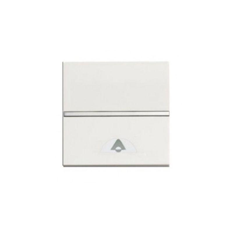 Pulsador símbolo timbre blanco N2204 BL 2 módulos Zenit Niessen