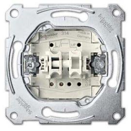 Pulsador doble Schneider MTN3155-0000 Series D-Life y Elegance