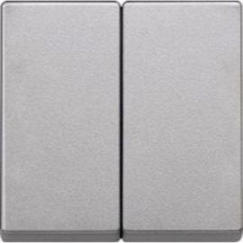 Tecla doble interruptor aluminio Schneider Elegance MTN433560