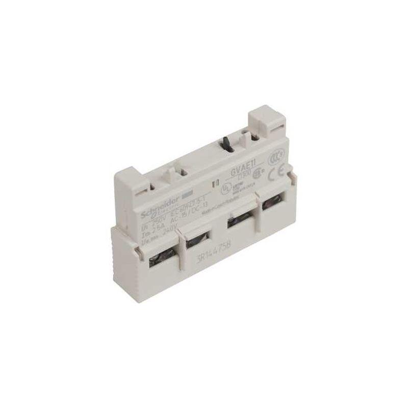 Bloque de contacto auxiliar frontal 1 NA +1 NC GVAE11