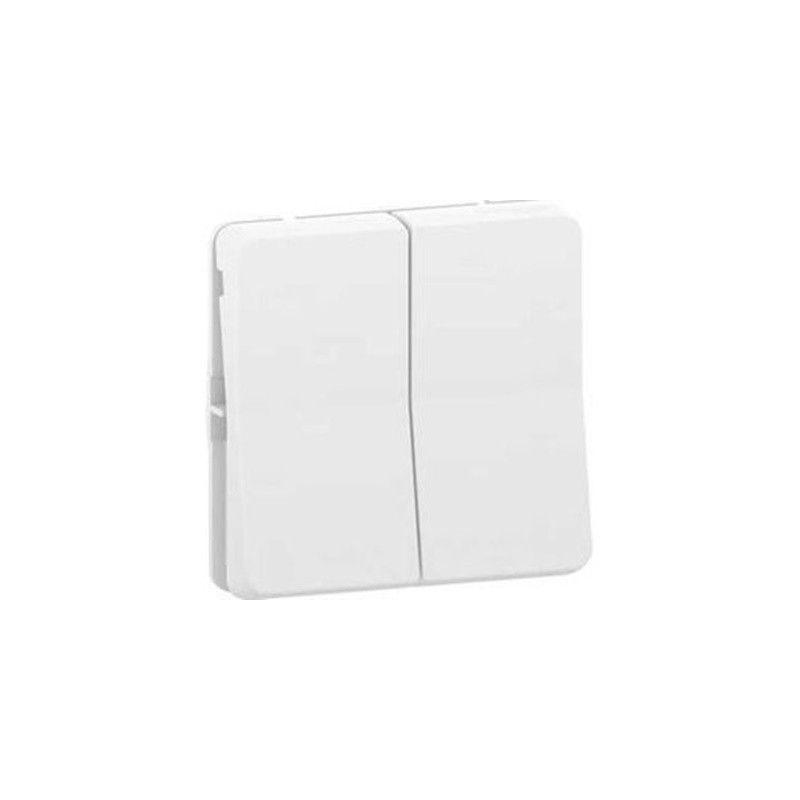 Doble conmutador color blanco Mureva MUR39022