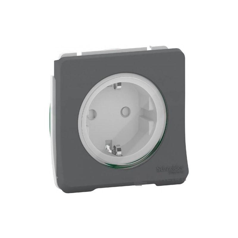 Interruptores y Enchufes por marca SCHNEIDER Enchufe schuko 2P+TT gris Schneider Mureva Styl MUR36135