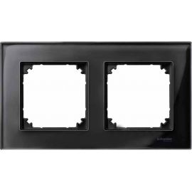 Marco 2 elementos Elegance negro cristalino MTN404203