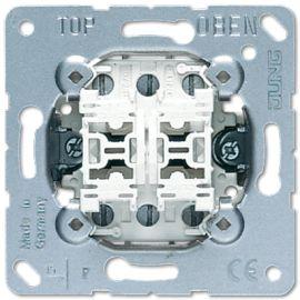 Doble pulsador conmutador 539U Jung