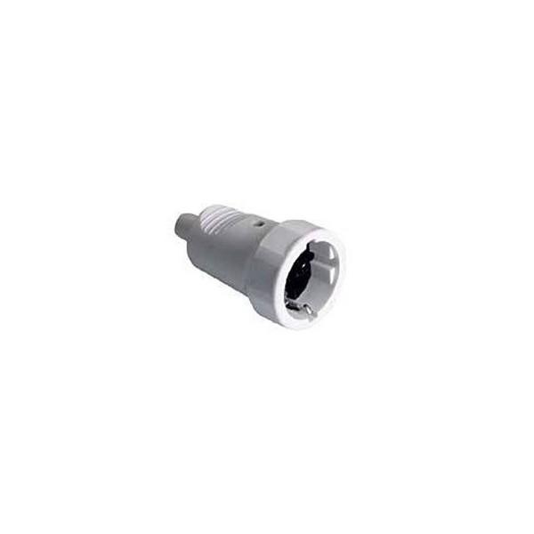 Base enchufe aérea blanca 2P+T PVC goma