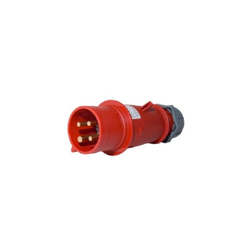 Clavija industrial 3P+T 16A 400V IP44 Mennekes 252