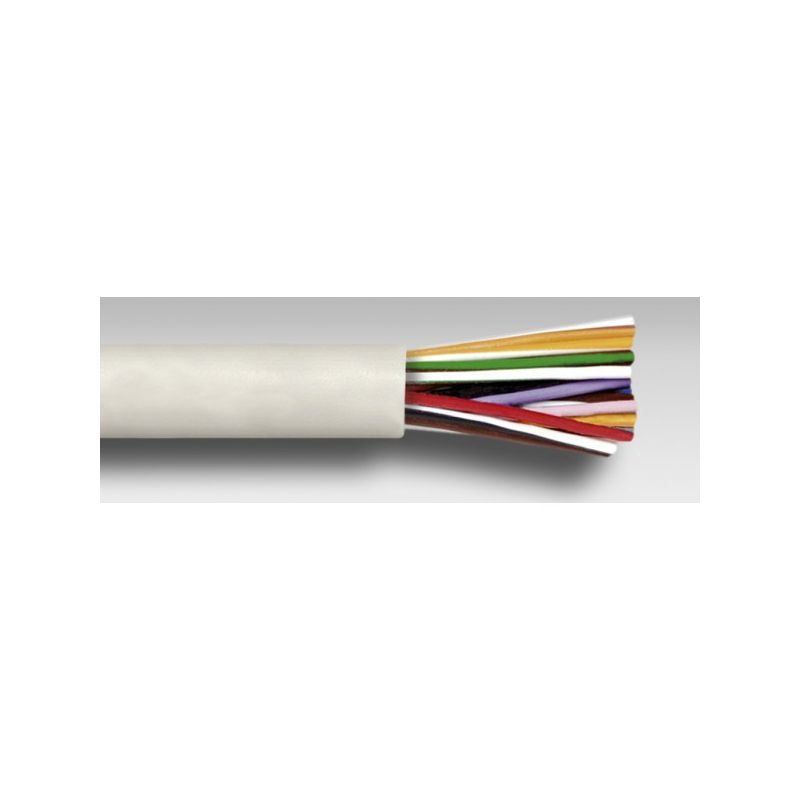 Cable altavoz con funda blanco 6X0,5MM Rollo 100m