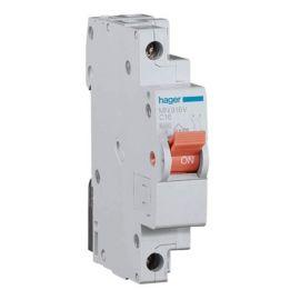 Interruptor magnetotérmico estrecho 16A 1P+N Hager