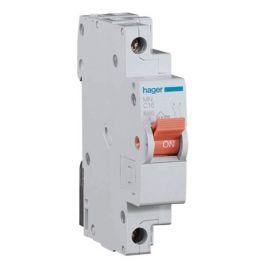 Interruptor magnetotérmico estrecho 10A 1P+N Hager