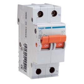 Interruptor magnetotérmico 1P+N 10A serie MN Hager