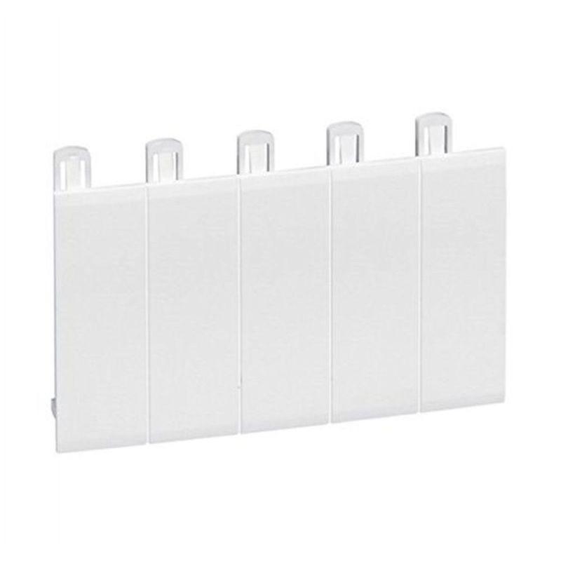 Tapa huecos cuadro 5 módulos blanco