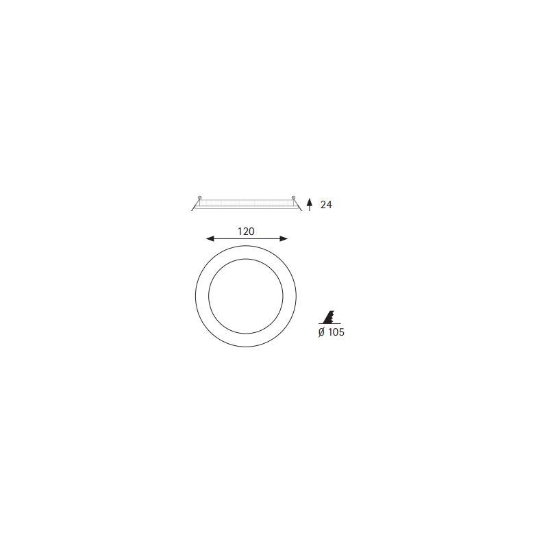 Downlight LED 4000K Micro panel 8W blanco