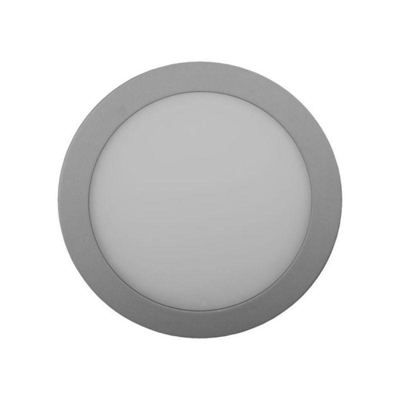 Downlights Led circulares JISO Downlight LED Micro panel 8W luz natural Ø120mm aluminio