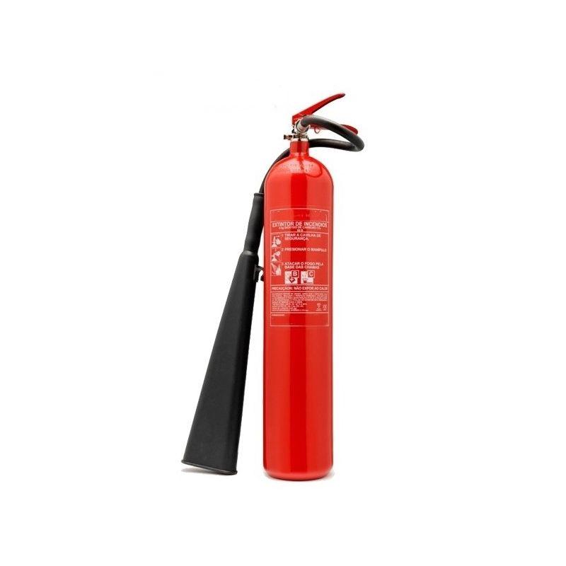 Extintor de CO2 5 Kg. con manguera y lanza